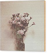 Vintage Abstract Flowers Wood Print
