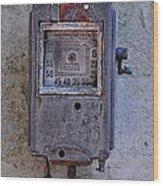 Vintage Air Pump Wood Print