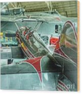 Vintage Airplane Comparison Wood Print