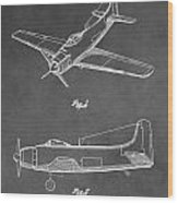 Vintage Airplane Patent Wood Print