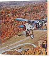 Vintage Airplane Postcard Art Prints Wood Print