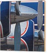 Vintage Airplane Wood Print