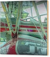 Vintage Airplane Two Wood Print