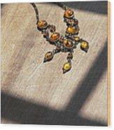 Vintage Amber Necklace Wood Print