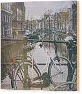 Vintage Amsterdam Wood Print