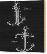 Vintage Anchor Patent Wood Print