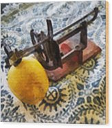 Vintage Apple Peeler Wood Print
