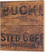 Vintage Arbuckles Roasted Coffee Sign Wood Print