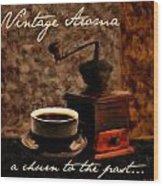 Vintage Aroma Wood Print