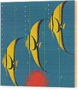 Vintage Australia Travel Poster Wood Print