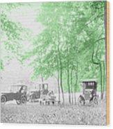 Vintage Autobmobiles Wood Print