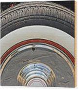 Vintage Automobile Tire Wood Print