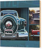 Vintage Automobiles Wood Print