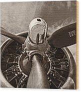 Vintage B-17 Wood Print