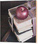 Vintage Back To School Wood Print