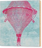 Vintage Balloon Wood Print