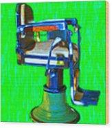 Vintage Barber Chair - 20130119 - V2 Wood Print