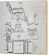 Vintage Barber Chair Patent Wood Print