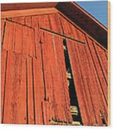 Vintage Barn Aglow Wood Print