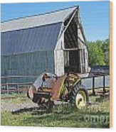 Vintage Barn And Equipment Wood Print