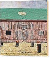 Vintage Barn - Wood And Stone Wood Print