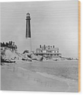 Vintage Barnegat Lighthouse  Wood Print