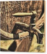 Vintage Barrel Tap Wood Print