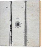 Vintage Baseball Bat Patent Wood Print