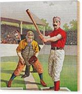 Vintage Baseball Print Wood Print
