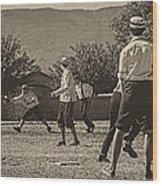 Vintage Baseball Wood Print