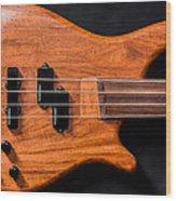 Vintage Bass Guitar Body Wood Print
