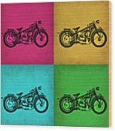 Vintage Bike Pop Art 1 Wood Print