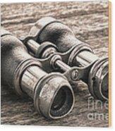 Vintage Binoculars Wood Print