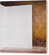 Vintage Blank Notepad Wood Print