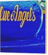 Vintage Blue Angel Wood Print