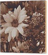 Vintage Bouquet Wood Print