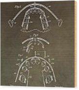 Vintage Braces Patent Wood Print