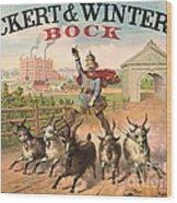 Vintage Brewery Ad 1871 Wood Print by Padre Art