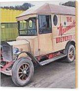 Vintage Brewery Van Wood Print