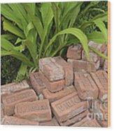 Vintage Brick Wood Print