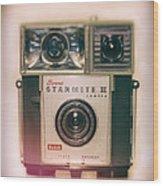 Vintage Brownie Starmite Camera Wood Print