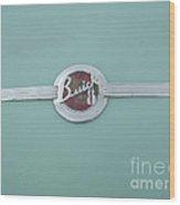 Vintage Buick Emblem Wood Print