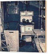 Vintage Cabin Interior Wood Print