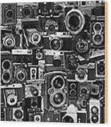 Vintage Camera Montage Wood Print