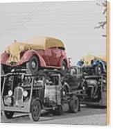 Vintage Car Carrier Wood Print