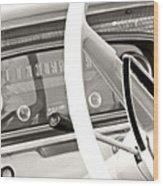 Vintage Car Dashboard Wood Print