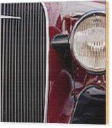 Vintage Car Details 6297 Wood Print