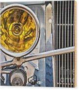 Vintage Car Light Wood Print