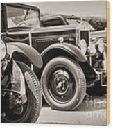Vintage Cars Wood Print
