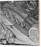 Vintage Carved Facade  Wood Print